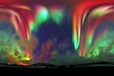 Aurora in Norway.  When deadly radiation is at its most beautiful.