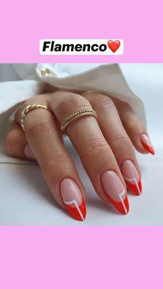 Almond Acrylic Nails, Best Acrylic Nails, Acrylic Toes, French Acrylic Nails, Funky Nails, Dope Nails, Swag Nails, Nail Tip Designs, Natural Nail Designs
