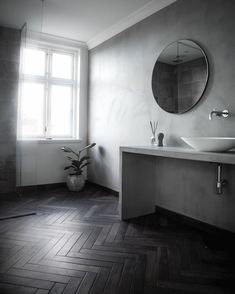 Beyond the brightness it brings, a velux® seduces by its atypical character! But how to put a velux®? Minimal Bathroom, Bathroom Design Inspiration, Roof Window, Toilet Design, Washroom, Clean Design, Keep It Cleaner, Minimalism, Kitchens
