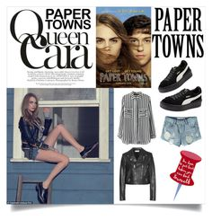 """""""Queen Cara"""" by xoxo-ily ❤ liked on Polyvore featuring Yves Saint Laurent, Chicnova Fashion, Puma, CaraDelevingne and papertowns"""