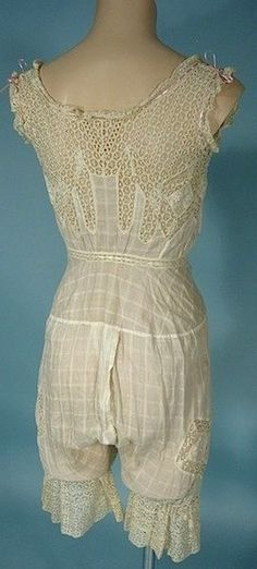 Antique Dress - Late 1800's combinations (could be Edwardian or even early 19-Teens)
