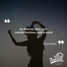 Frases de Motivacion #Frases #Quotes #Motivacion #Motivation #Lunes #JanisJoplin #Trabajo #Libertad