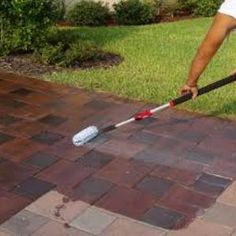 Sealing Process - Seal My Pavers is a Family owned & operated company serving the Venice FL area specializing in residential and commercial Paver Sealing. Block Paving Patio, Paver Stone Patio, Brick Paver Driveway, Brick Paving, Concrete Pavers, Driveway Sealer, Concrete Staining, Backyard Shade, Backyard Patio