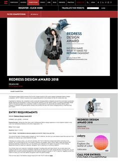 """Redress Design Award 2018"" - Arts Thread, Feb 2018 #sustainablefashion #ECDA  #EcoChicDesignAwards #getredressed #RedressDesignAward #RDA"