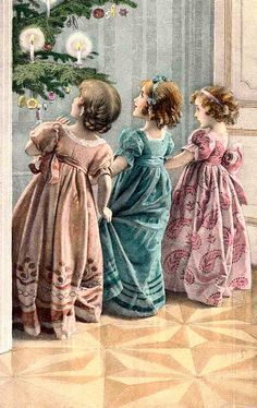 RARE Old 1901 Print Tonnesen Sisters Girl Hangs Xmas #0: d9a5769fda2b cc0cfcc61 christmas post christmas pictures