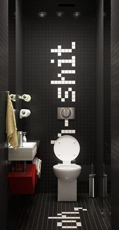 Pay special attention to the design of your toilet - Badezimmer ideen 2019 - Bathroom Toilets, Laundry In Bathroom, Small Bathroom, Toilette Design, Restroom Design, Bathroom Interior Design, Wc Decoration, Public Bathrooms, Deco Originale