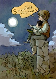 Bilbo y Frodo