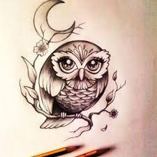 Resultado de imagen para tatuaje buho boceto