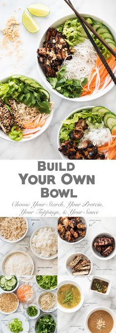 Entertaining? Let your guests build their own bowl! #weightlossmotivation