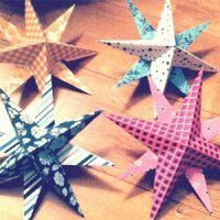 Kerststerren van papier - Gewoon leuker