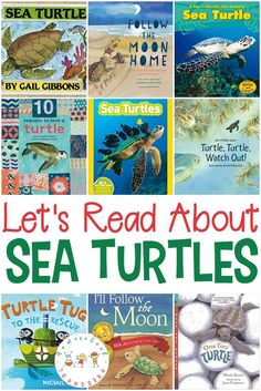 Sea turtles are amazing creatures. These fiction and nonfiction sea turtle books will introduce kids to these amazing sea creatures! Toddler Books, Childrens Books, Baby Books, Preschool Books, Activities For Kids, Turtle Classroom, Turtle Book, Sea Turtle Pictures, Ocean Unit