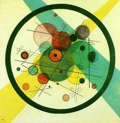 pour les couleurs et l'agencement des formes  CERCLES DANS UN CERCLE - 1923 - Wassily Kandinsky