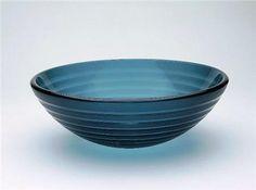 Kianna Round Glass Vessel Sink in Blue ,Price: $355.00, From www.glasssinksonline.com