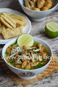 Diah Didi's Kitchen: Soto Kudus ( Resep Baru ) Diah Didi Kitchen, Indonesian Cuisine, Good Food, Yummy Food, Food To Make, Food And Drink, Menu, Tasty, Chicken