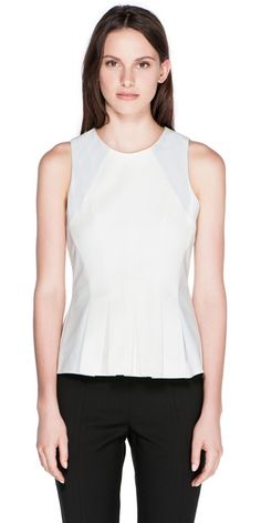 Contrast Pleated Peplum Top (C30161). RRP $199.