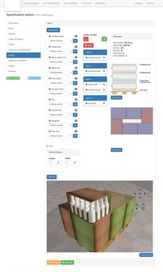 Packaging specification edition