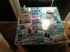 My postcard table