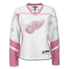 pink red wings apparel | Detroit Red Wings Women's Pink Freeze Jersey - IceJerseys.com ...