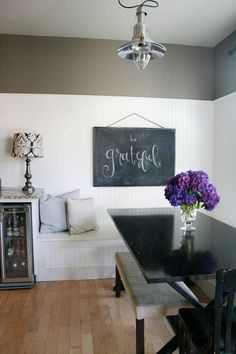 Prefer a framed, hanging chalkboard to chalkboard paint.