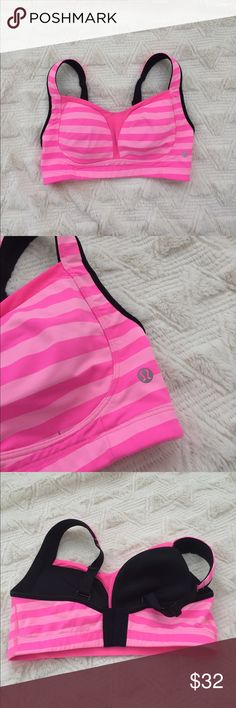 Worn once lululemon sports bra In perfect condition lululemon athletica Tops