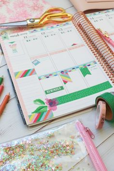 Washi Tape 2 Ways: Easy Planner Decoration Ideas Passion Planner, Life Planner, Happy Planner, Planner Layout, Planner Pages, Planner Ideas, Craft It Yourself, Washi Tape Planner, Academic Planner