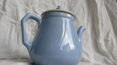 Baby Blue Teapot, vintage coffeepot, mid century kitchen, vintage home decor, french style bistro, French country kitchen, farmhouse teapot