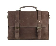 0e668bef97f Crazy Horse Leather Briefcase iPAD via Vintage Leather Bags. Click on the  image to see