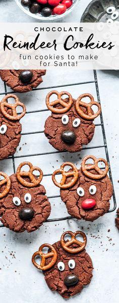 Reindeer Cookies #reindeercookies #christmas #christmascookies