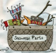 Sassy Snowmen Machine Embroidery Designs
