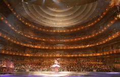 The seating capacity faces a stage that can be transformed to accommodate the ballet, symphony, or even converted to a host a spectacular Gala dinner event. Craig Mullins, Washing Windows, Downtown Orlando, Performing Arts, Seating Capacity, Gala Dinner, Window Cleaner, Stage, Florida