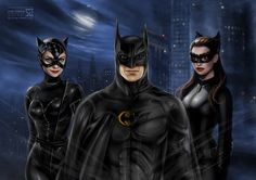 Batman and Catwomen by daekazu.deviantart.com on @deviantART