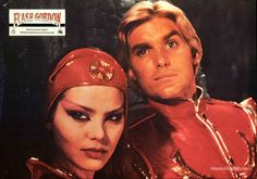 Flash Gordon - Lobby card with Ornella Muti & Sam Jones. The image measures 1280 * 901 pixels and was added on 14 September Ornella Muti, Flash Gordon, Cards, Movies, Costumes, Films, Dress Up Clothes, Fancy Dress, Cinema
