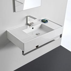 Buy the Nameeks Scarabeo Hole White / One Hole Direct. Shop for the Nameeks Scarabeo Hole White / One Hole Scarabeo Teorema Rectangular Ceramic Wall Mounted Bathroom Sink with Overflow and Towel Bar and save.