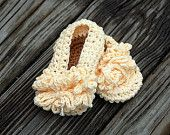 Baby Girl Sandals Crochet - Buttoned Sandal Straps - Photography Prop - 0-6 months and 6-12 months in size. $14,00, via Etsy.