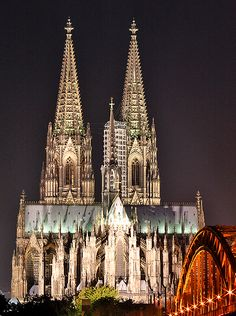 Cologne (Koln) Germany// I remember climbing the steps to the top of one of the towers and the clouds were below us!
