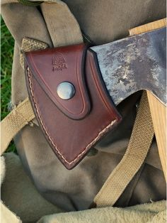 I want to create an axe sheath like this for my Gransfors Bruk Outdoor Hatchet.