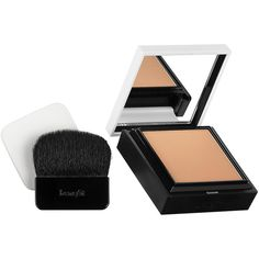 Benefit Cosmetics Hello Flawless! Powder Foundation ($34) ❤ liked on Polyvore featuring beauty products, makeup, face makeup, foundation, beauty, powder foundation and benefit foundation