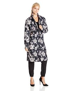 BB Dakota Womens Gunievere Floral Duster Coat Black Medium ** Check this awesome product by going to the link at the image. (It is an affiliate link and I receive commission through sales)