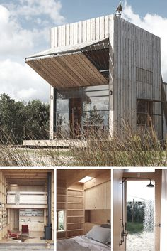This amazing Sled House can be relocated with a tractor! And talk about making the most of a small space...