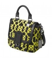 Bisou Bowler in Midnight Saffron from Petunia - $282 http://handbags.petunia.com #fashion #bowler #hangbags