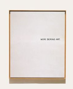 I like his art, its really simple. And pretty much just a commentary on the popular art of the day.