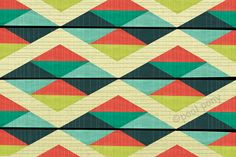 Also inspiration for a quilt! grid lock 12 x 18 inch mid century inspierd art by poolponydesign, $70.00