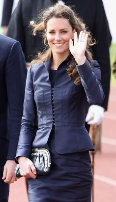 I generally don't care for Kate Middleton's style but I do love this suit.