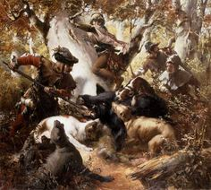 Image: Ferdinand Wagner - Wild boar hunting in the old days