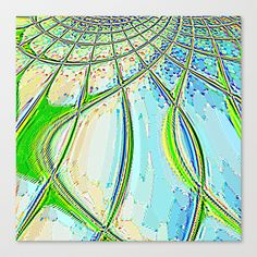 Re-Created Web of Lies10  #Stretched #Canvas by #Robert #S. #Lee - $85.00