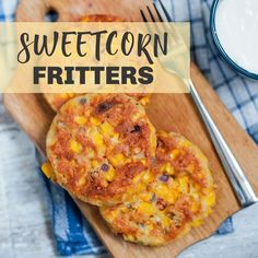 Make these sweetcorn fritters your new go-to recipe with ingredients youll always find in your kitchen. Theyre vegan-friendly too! Quick Recipes, Other Recipes, Veggie Recipes, Sweetcorn Fritters Recipe, Vegan Side Dishes, Good Food, Yummy Food, Savoury Dishes, Vegan Friendly