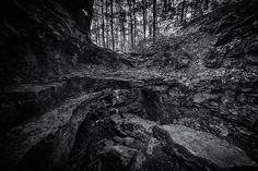 sinequanon:  The Entrance (black)  Just outside the entrance to Wolf Cave located in McCormicks Creek State Park Indiana.   Sine Qua Non Photography: images by Nathanael Handlang  Instagram - Facebook - Flickr Follow us on Facebook http://ift.tt/1ZBR6Ym