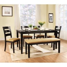 Looking for a dining table for your dining room? With various designs of the dining table, here are some stylish dining room table ideas (style, sizes) for you. Black Dining Table Set, Large Round Dining Table, Wooden Dining Tables, Dining Table Chairs, Dining Furniture, Furniture Ideas, Modern Furniture, European Furniture, Table Seating