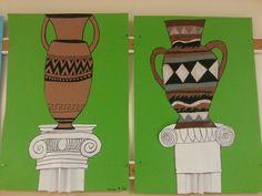 Kreikka Ancient Greek Art, Ancient Rome, Ancient Greece, Rome History, Art History, Greek Pottery, 3 Arts, Art Lesson Plans, Elementary Art