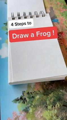 Art Drawings Sketches Simple, Colorful Drawings, Easy Drawings, Drawing Tips, Drawing Ideas, Arte Sketchbook, Ideias Diy, Wow Art, Diy Canvas Art
